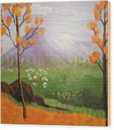 Autumn Countryside Wood Print