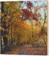 Autumn Crescendo Wood Print