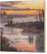 Autumn Dawning Wood Print