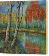 Autumn Day. Wood Print