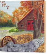 Autumn Day Wood Print