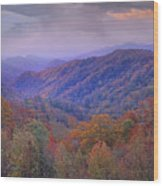 Autumn Deciduous Forest Great Smoky Wood Print