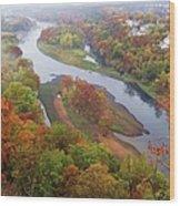 Autumn Down Below Wood Print