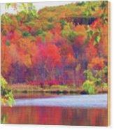 Autumn East Coast I Wood Print