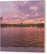 Autumn Evening At Forest Parks Grand Basin Wood Print