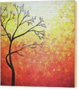 Autumn Evening Wood Print