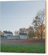 Autumn - Farm At Valley Forge Wood Print