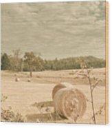 Autumn Farming And Agriculture Landscape Wood Print
