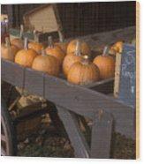 Autumn Farmstand Wood Print by John Burk