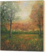 Autumn Field Wood Print