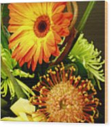 Autumn Flower Arrangement Wood Print