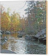 Autumn Flows Toward Winter Wood Print