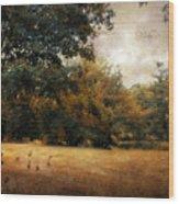 Autumn Geese Wood Print