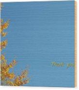 Autumn Ginkgo Tree Wood Print