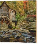 Autumn Glade Creek Grist Mill  Wood Print