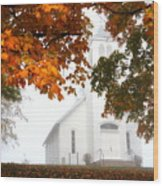 Autumn Grace Wood Print