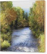 Autumn Harvest Along The River Wood Print
