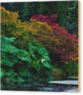 Autumn Has Begun Wood Print