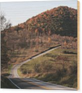 Autumn Hill Near Hancock Maryland Wood Print
