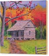 Autumn Home Wood Print