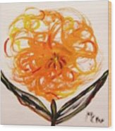 Autumn Hope Flower Wood Print by Mary Carol Williams
