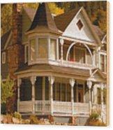 Autumn House Wood Print