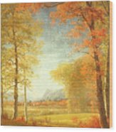 Autumn In America Wood Print