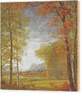 Autumn In America Wood Print