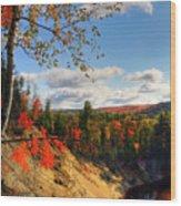 Autumn In Arrowhead Provincial Park Wood Print