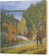Autumn In Big Bear, 18x24, Oil, '08 Wood Print