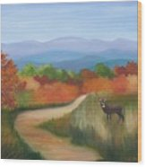 Autumn In Blue Ridge Mountains Virginia Wood Print