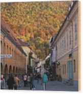 Autumn In Brasov Wood Print