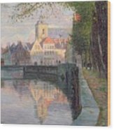 Autumn In Bruges Wood Print by Omer Coppens