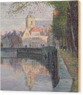 Autumn In Bruges Wood Print