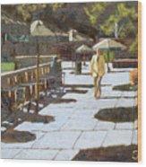 Autumn In Bryant Park Wood Print