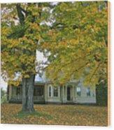 Autumn In Franklin Wood Print