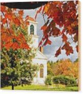 Autumn In Gilmanton Wood Print by Robert Clifford