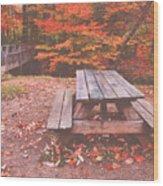 Autumn In High Bridge Wood Print