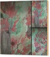 Autumn In My Soul Triptych Wood Print