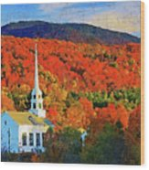 Autumn In New England - 04 Wood Print