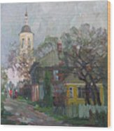 Autumn In Old City Wood Print