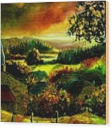 Autumn In Our Village Ardennes Wood Print