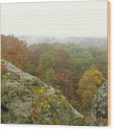 Autumn In Shawnee Wood Print