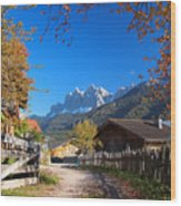 Autumn In South Tyrol Wood Print