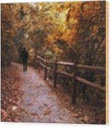 Autumn In Stride Wood Print