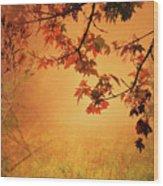 Autumn In The Fog. Wood Print