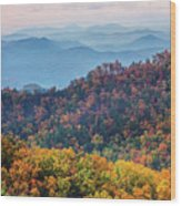Autumn In The Great Smoky Mountains Wood Print