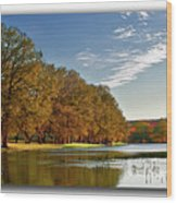 Autumn In The Hill Country Wood Print