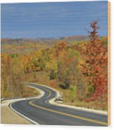 Autumn In The Hockley Valley Wood Print