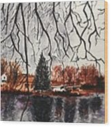 Autumn in Upstate Wood Print